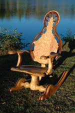 Bazis Rocking chairs - Birdseye maple